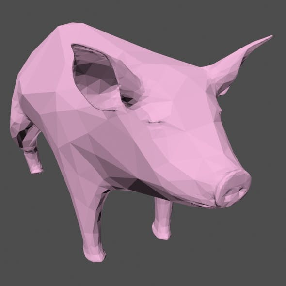Low Poly Pig - 3DOcean Item for Sale