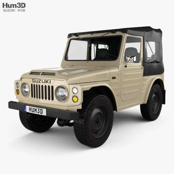 Suzuki Jimny with HQ interior 1977 - 3DOcean Item for Sale