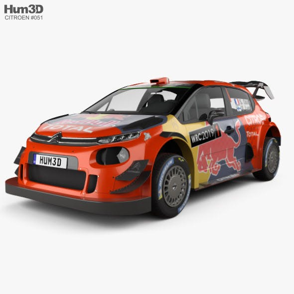 Citroen C3 WRC 2019 - 3DOcean Item for Sale