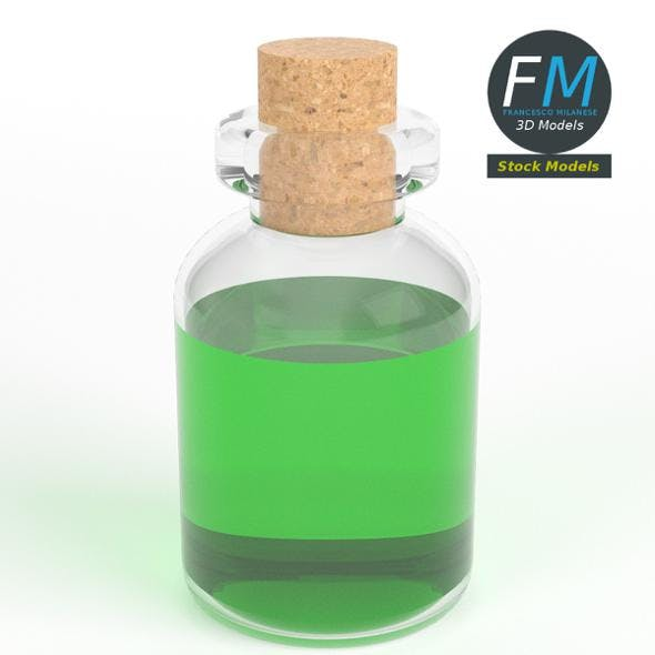 Cylindrical potion flask - 3DOcean Item for Sale
