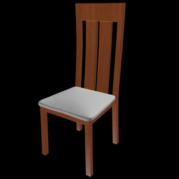 Realistic and detailed chair - 3DOcean Item for Sale