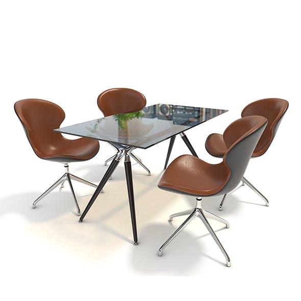 Modern Design Dining Table Set - 3DOcean Item for Sale