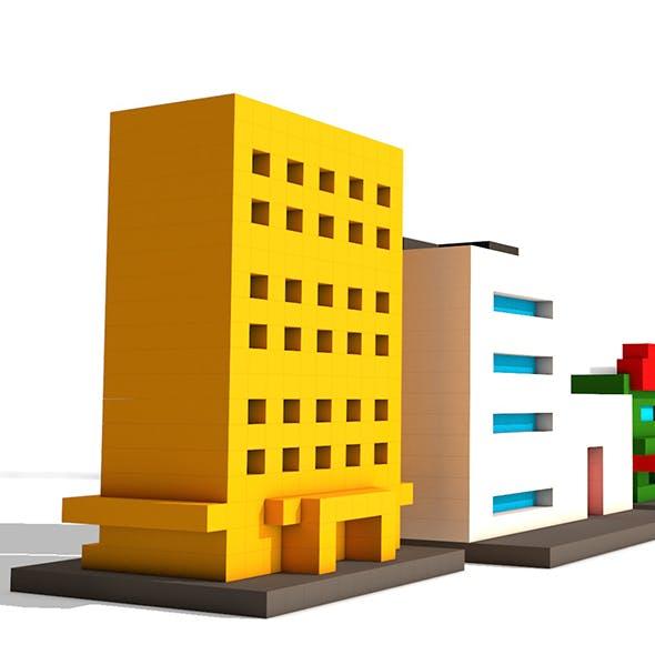 Voxel Buildings - 3DOcean Item for Sale
