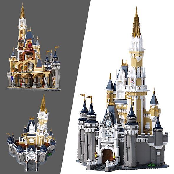 LEGO Disney Castle - 3DOcean Item for Sale