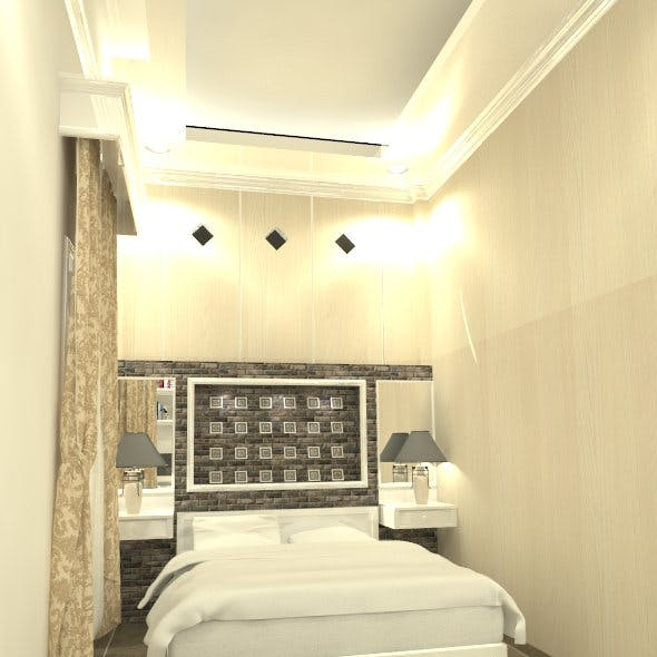 3D BED ROOM INTERIOR DESIGN BALIKPAPAN REG 1
