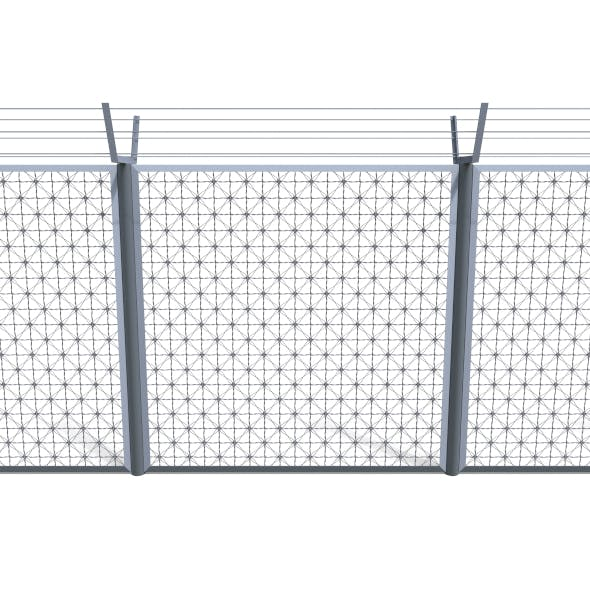 Low Poly Modular Fence 4 - 3DOcean Item for Sale