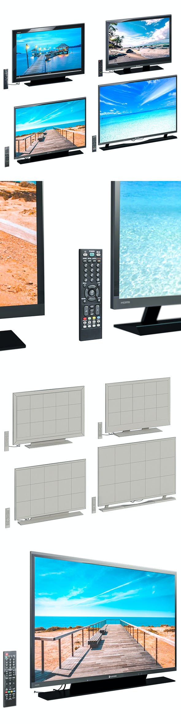 L3DV09G01 - televisors set - 3DOcean Item for Sale