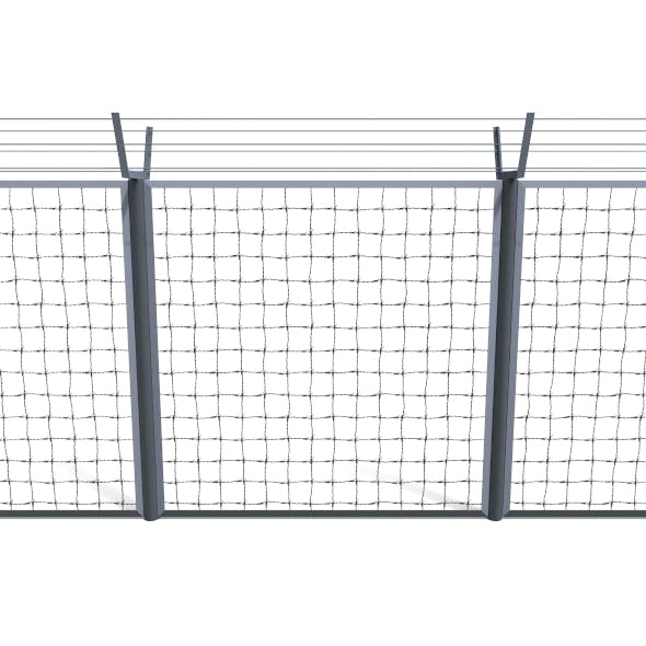 Low Poly Modular Fence 5 - 3DOcean Item for Sale