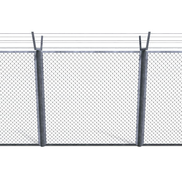 Low Poly Modular Fence 9 - 3DOcean Item for Sale
