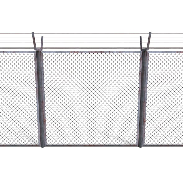 Low Poly Modular Fence 10 - 3DOcean Item for Sale