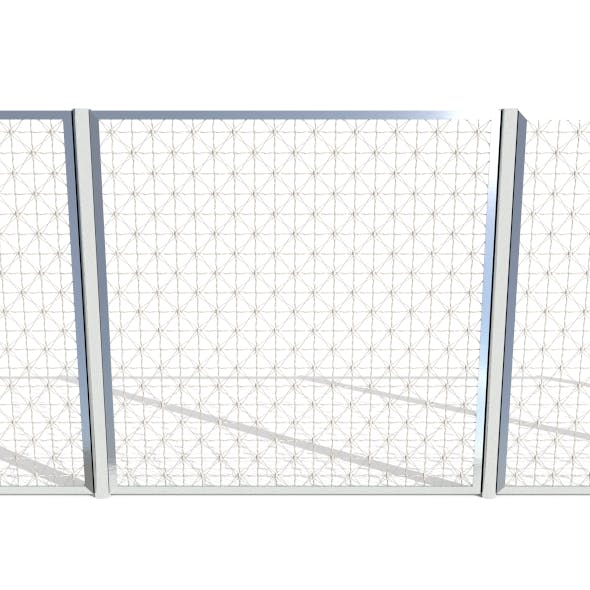 Low Poly Modular Fence 13 - 3DOcean Item for Sale