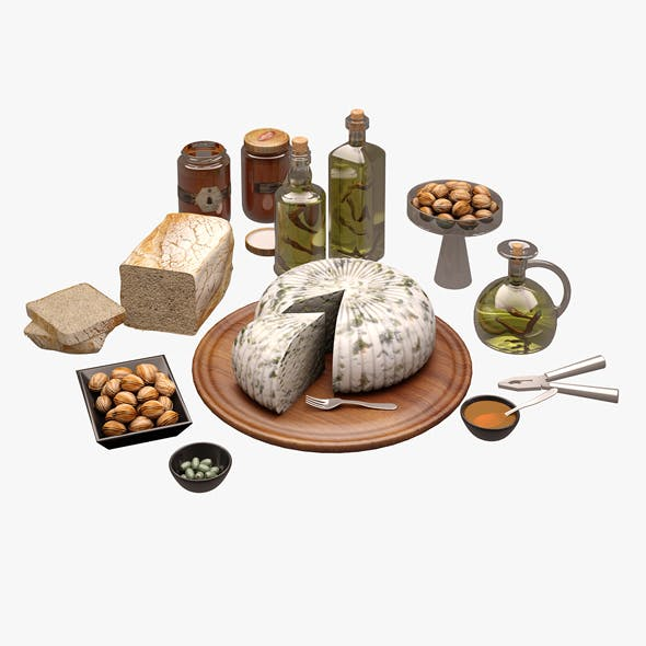 Cheese Board 01 - 3DOcean Item for Sale