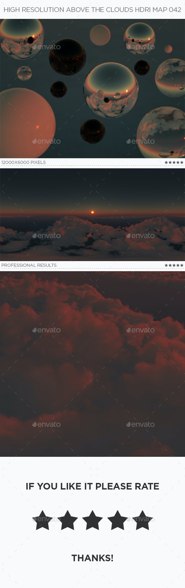 High Resolution Above The Clouds HDRi Map 042 - 3DOcean Item for Sale