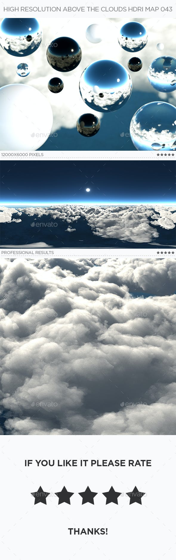 High Resolution Above The Clouds HDRi Map 043 - 3DOcean Item for Sale
