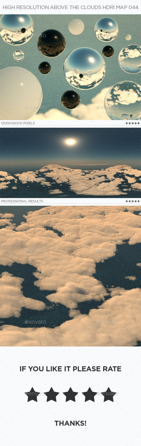 High Resolution Above The Clouds HDRi Map 044 - 3DOcean Item for Sale