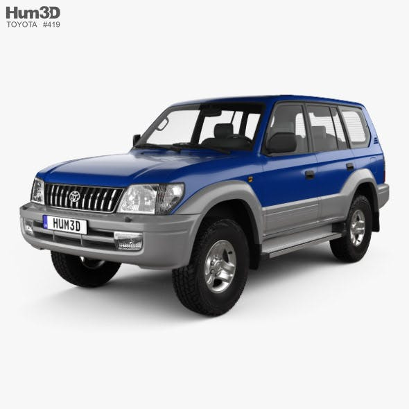 Toyota Land Cruiser Prado 5-door 1999 - 3DOcean Item for Sale