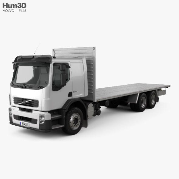 Volvo FE Flatbed Truck 2009 - 3DOcean Item for Sale