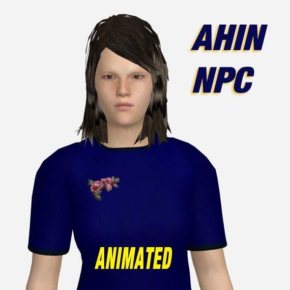 Ahin Animated NPC - 3DOcean Item for Sale