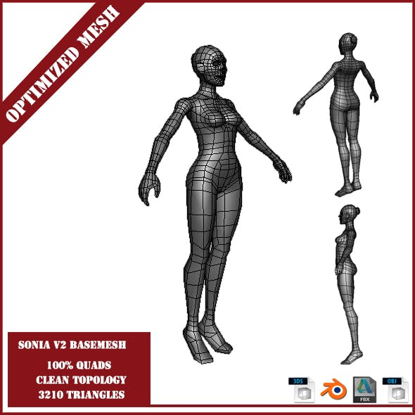 Sonia V2 Base Mesh - 3DOcean Item for Sale