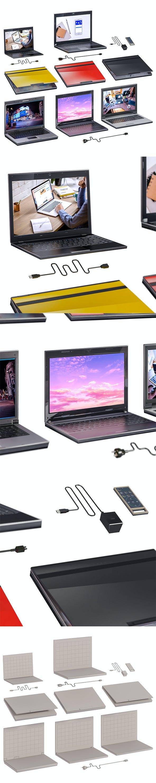 L3DV23G01 - computers set - 3DOcean Item for Sale