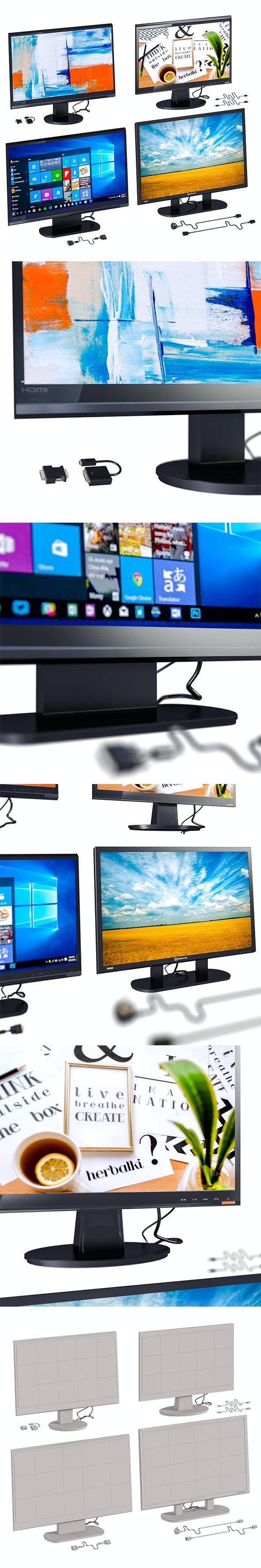 L3DV23G02 – computer monitors set - 3DOcean Item for Sale