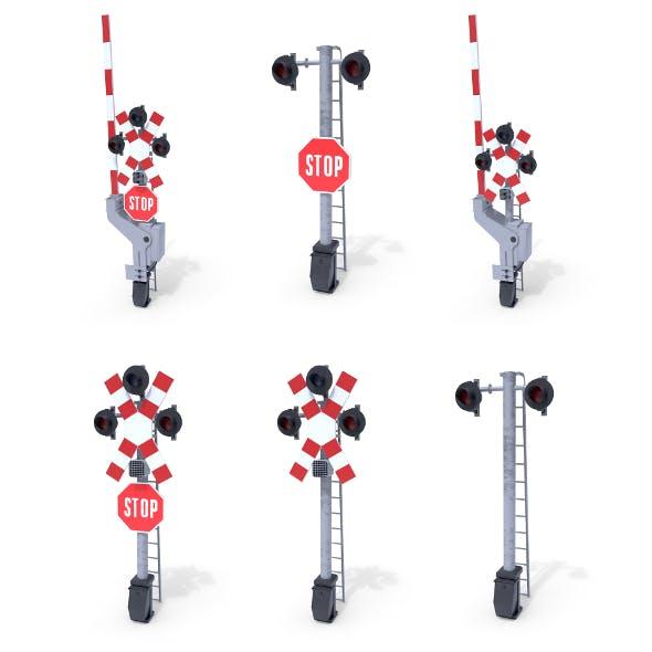 Rail Crossing Traffic Light Pack 1