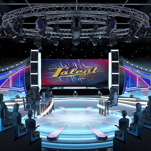 TV Studio Entertainment Set 2 - 3DOcean Item for Sale