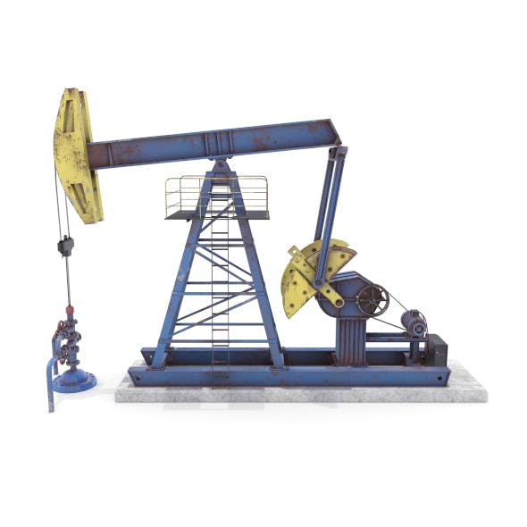 Oil Pumpjack  Weathered 1 - 3DOcean Item for Sale