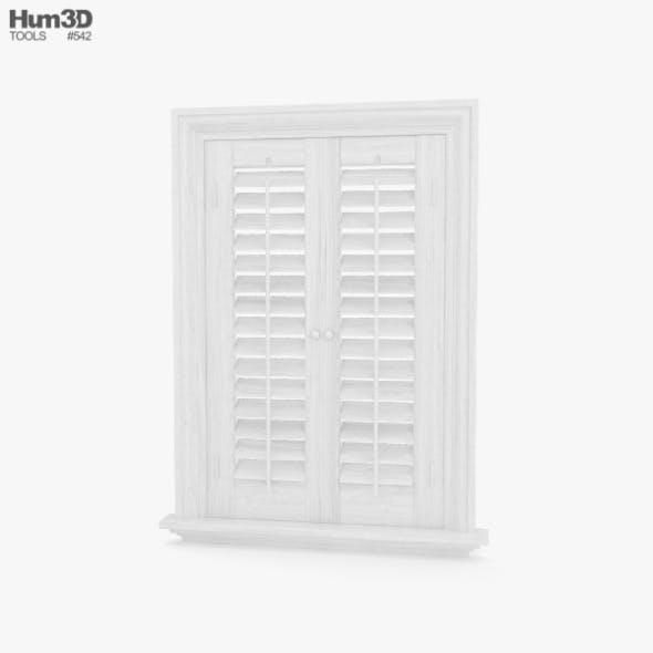 Window Shutter - 3DOcean Item for Sale