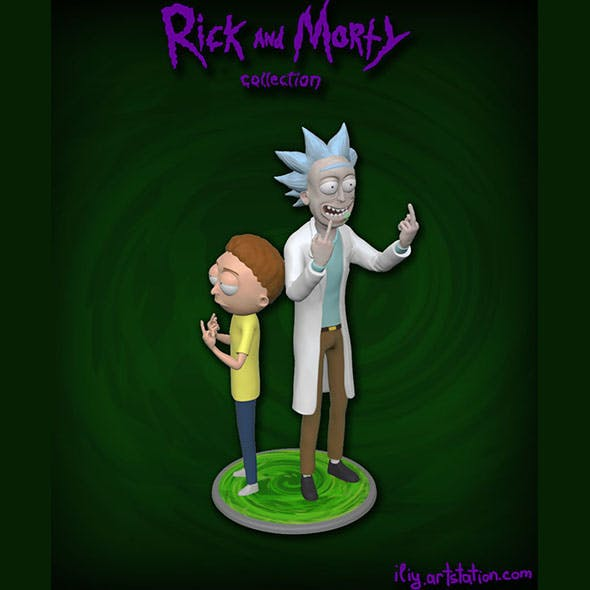 Rick and Morty figure - 3DOcean Item for Sale