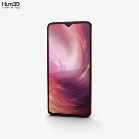 OnePlus 7 Red - 3DOcean Item for Sale