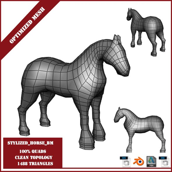 Stylized Horse Base Mesh - 3DOcean Item for Sale