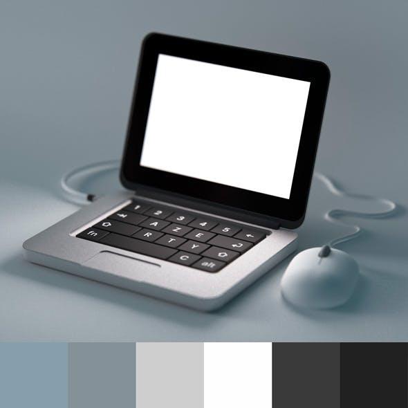 Tiny cartoon laptop - macbook