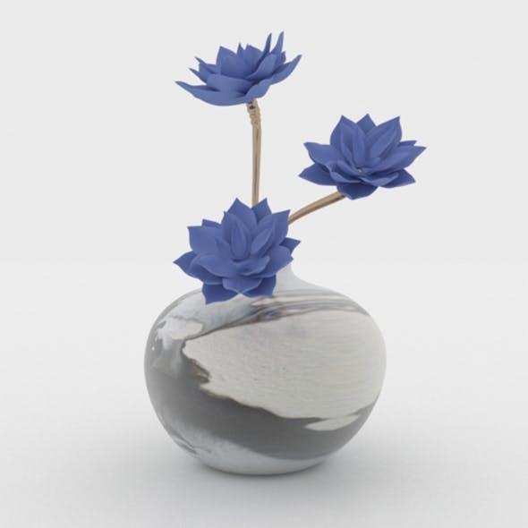 Flower In Vase 02 - 3DOcean Item for Sale