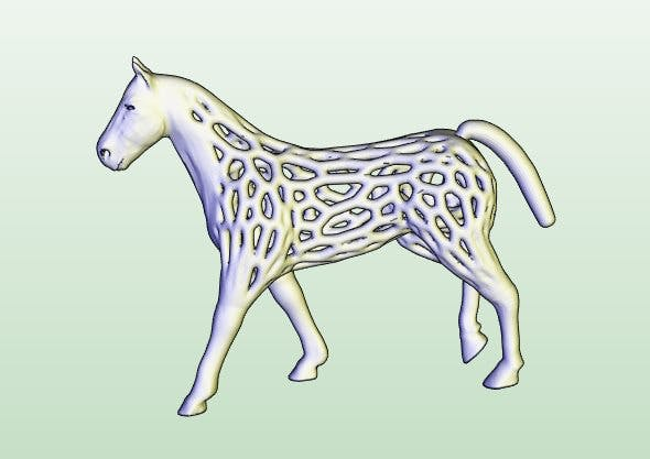 voronoi horse - 3DOcean Item for Sale