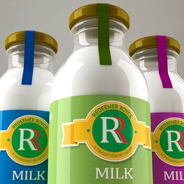 milk glass bottle - 3DOcean Item for Sale