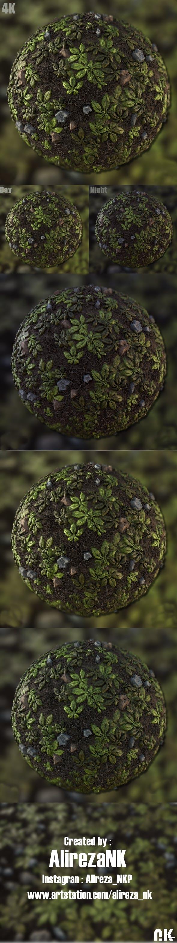 Fall leaves Material - 3DOcean Item for Sale