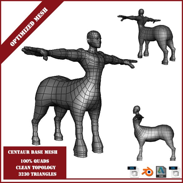 Centaur Base Mesh - 3DOcean Item for Sale
