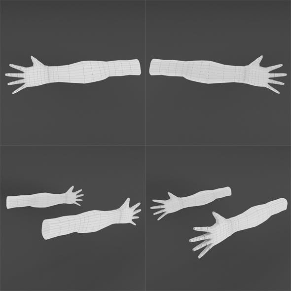 Hands LowPoly Base - 3DOcean Item for Sale