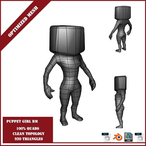 Puppet Girl Base Mesh - 3DOcean Item for Sale