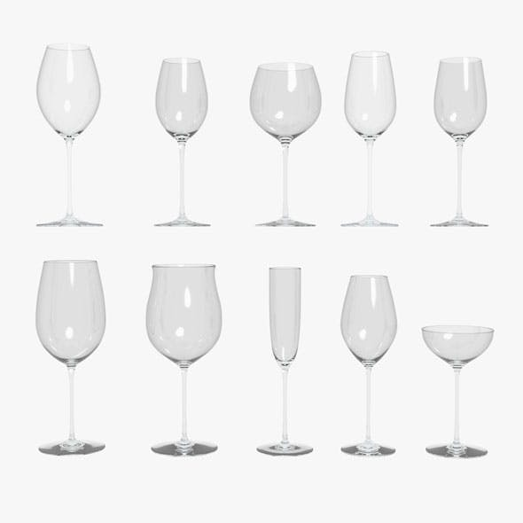 Riedel Superleggero Glasses Collection - 3DOcean Item for Sale