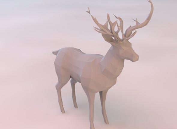 Low Poly Deer - 3DOcean Item for Sale