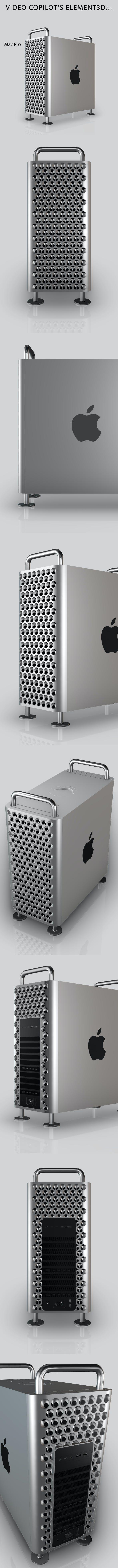 Element3D - Mac Pro - 3DOcean Item for Sale