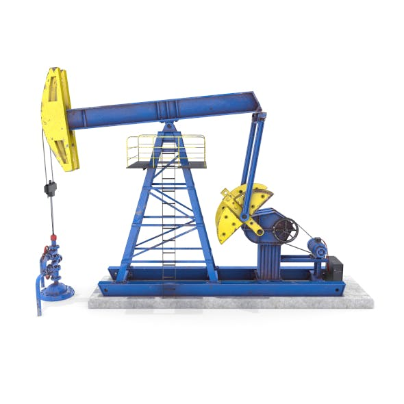 Oil Pumpjack Animated 1 - 3DOcean Item for Sale