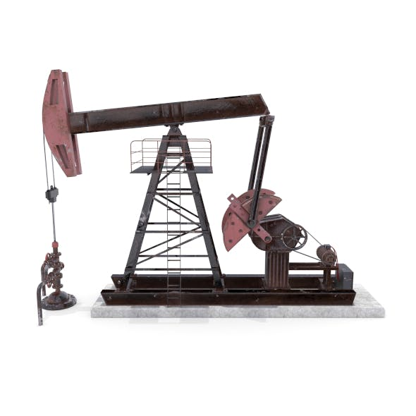 Oil Pumpjack Animated Weathered 2 - 3DOcean Item for Sale