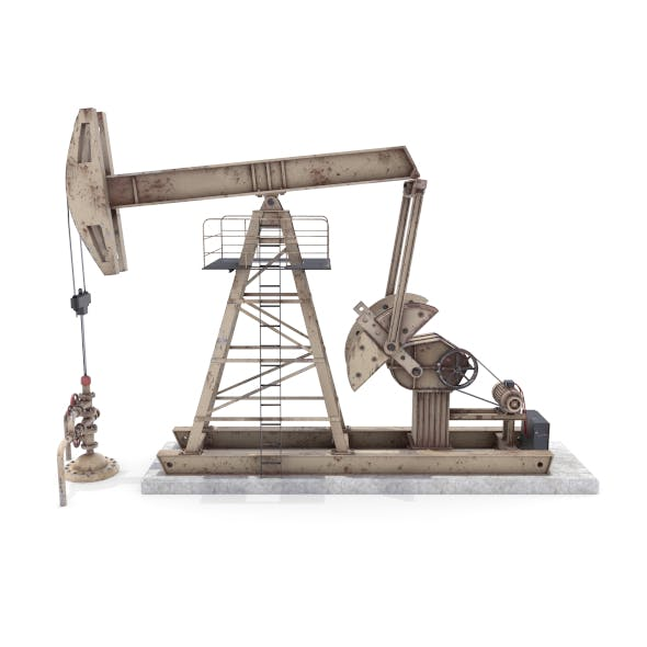 Oil Pumpjack Animated Weathered 3 - 3DOcean Item for Sale
