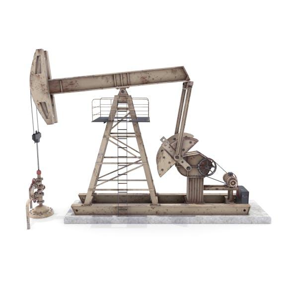 Oil Pumpjack Animated Weathered 3