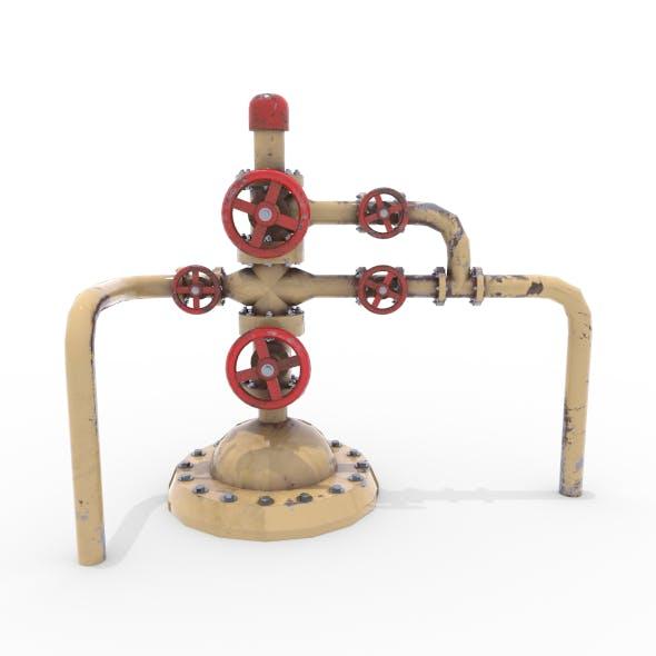 Oil Pumpjack Wellhead 3 - 3DOcean Item for Sale