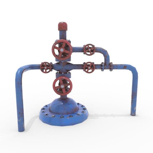 Oil Pumpjack Wellhead Weathered 1 - 3DOcean Item for Sale