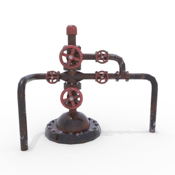 Oil Pumpjack Wellhead Weathered 2